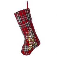 Mistletoe Highland Tartan Christmas Stocking