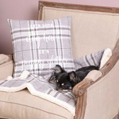Gift for Pet Lovers Neutral Tweed Gift Cushion