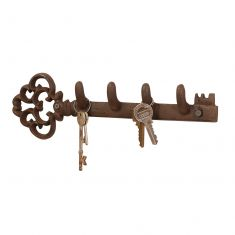 Cast Iron Key Shaped Key Hook Board