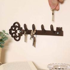 Cast Iron Key Shaped Key Hook Board