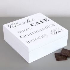 French Cafe Sweet Treats Storage Box