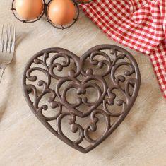 Amore Heart Shaped Cast Iron Trivet