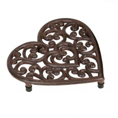Amore Heart Shaped Cast Iron Trivet