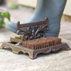 Cast Iron Boot Brush and Scrapers