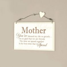 Mother Wooden Message Sign