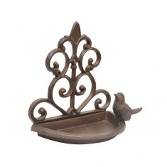 Ornate Cast Iron Wall Mounted Bird Feeder