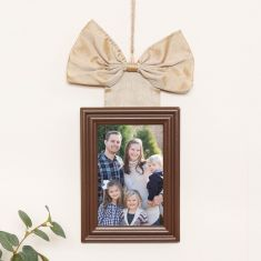 Hanging Gold Bow Photo Frame