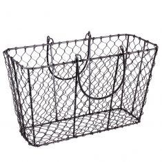Industrial Wire Garden Tool Storage Basket