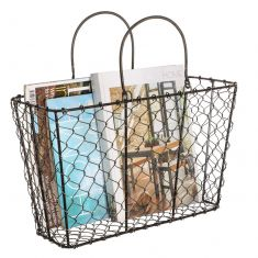 Industrial Style Black Chicken Wire Storage Basket