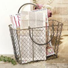 Industrial Style Black Chicken Wire Storage Basket