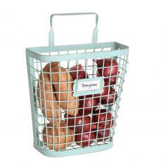 Blue Wire Kitchen Vegetable Storage Basket