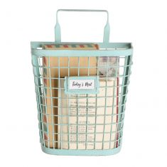 Blue Wire Metal Wall Storage Basket