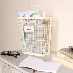 Country Cream Wall Storage Basket