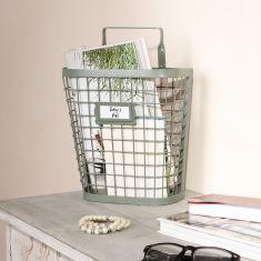 Sage Green Wall Storage Basket