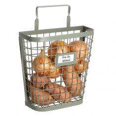 Sage Green Wire Vegetable Storage Basket