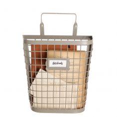Grey Wire Wall Storage Basket
