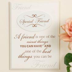 Special Friend Wooden Message Plaque