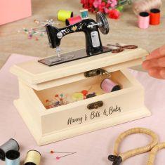 Personalised Vintage Sewing Box