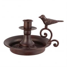Metal Bird Candle Holder