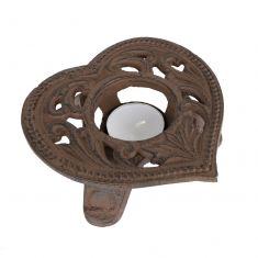 Cast Iron Heart Tealight Candle Holder