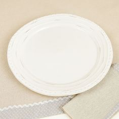 Farmhouse Ripple Dinner Plate