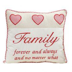 Family Forever Love Heart Cushion