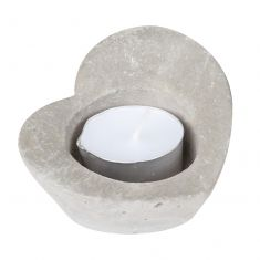 Stone Heart Shaped Tea Light Candle Holder