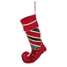 Luxury Red Jingle Bells Christmas Stocking