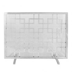 Kensington Nickel Fire Screen