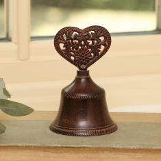 Cast Iron Love Heart Bell