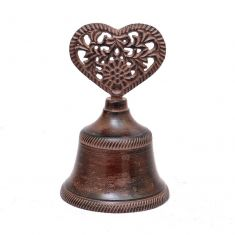 Cast Iron Love Heart Bell