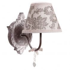 Parisian Grey Damask Wall Light