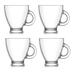 Set of 4 Espresso Glass Mugs