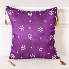 Embellished Beaded Cushion
