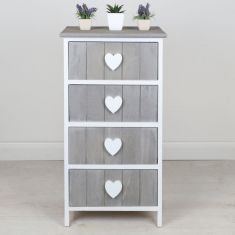 French Country Chalet Four Drawer Chest