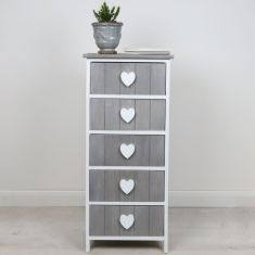 French Country Chalet Five Drawer Chest