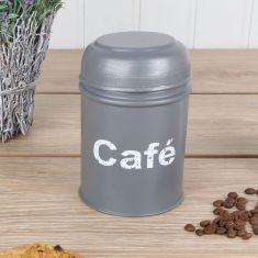 Grey French Coffee Canister
