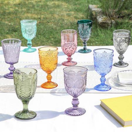 Cocktails in Kaleidoscope Glassware